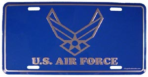 USAF With Wings License Plate