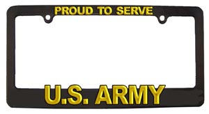 Army License Plate Frame Plastic