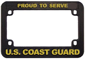 USCG Motorcycle License Plate Frame