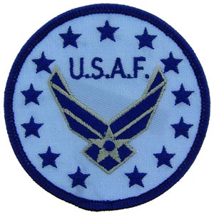 Patch- USAF Round Logo With Wings