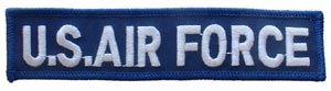 Patch- USAF Tab White and Blue