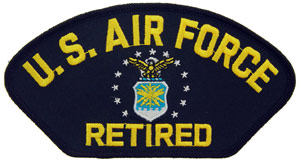 Patch- USAF Logo Retired For Cap