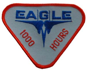 Patch-USAF Eagle 1000 Hours