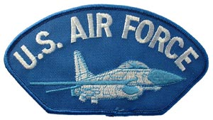 Patch-USAF Jet For Cap