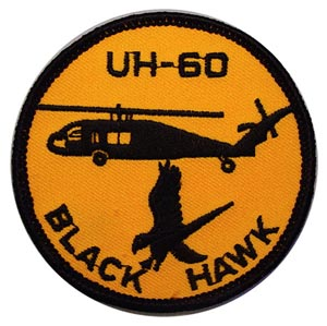 Patch-Helicopter UH-60 Black Hawk