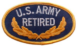 Patch- Army Retired Oval