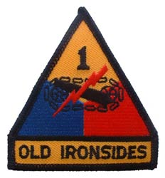 Patch-Army 1st Armored Division Old Ironsides