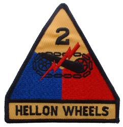Patch-Army 2nd Armored Division Hell On Wheels