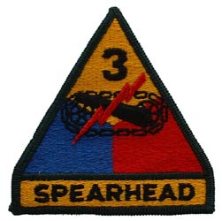 Patch-Army 3rd Armored Division Spearhead