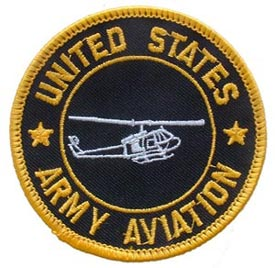 Patch-Army Aviation With Helicopter