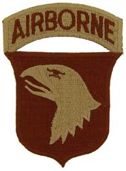 Patch-Army 101st Airborne Division For Desert Uniform