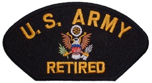 Patch-Army Retired For Cap