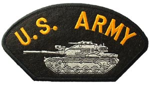 Patch-Army Tank For Cap