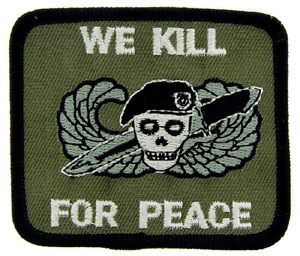 Patch-We Kill For Peace