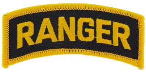 Patch-Army Ranger Tab Gold