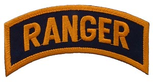 Patch-Army Ranger Tab Dark Gold
