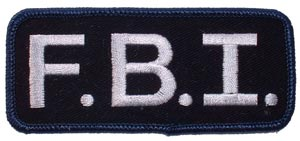 Patch-Police FBI Tab