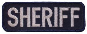 Patch-Police Sheriff Tab