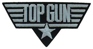 Patch-Top Gun White