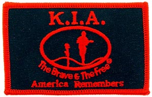 Patch-KIA Rectangle Red and Black