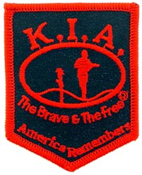 Patch-KIA Shield Black and Red
