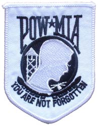 Patch-POW MIA White