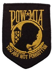 Patch-POW MIA Gold