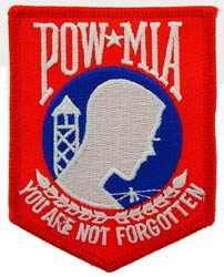 Patch-POW MIA Red