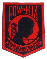 Patch-POW MIA Black and Red