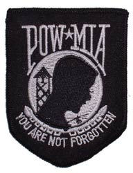 Patch-POW MIA Black