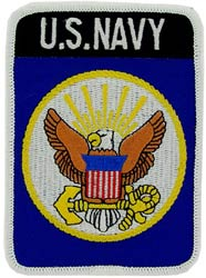 Patch- USN Logo Rectangle