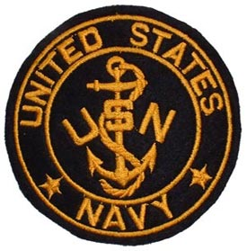 Patch-USN Logo Round