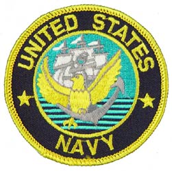 Patch-USN Logo With Ship and Anchor