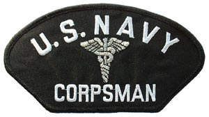 Patch-USN Corps For Cap