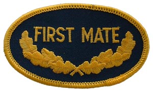 Patch-USN Oval 1st Mate