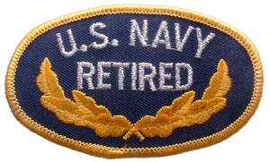 Patch-USN Oval Retired