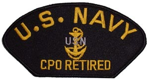 Patch-USN CPO Retired For Cap