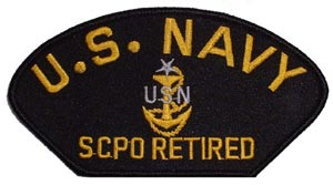 Patch-USN SCPO Retired For Cap