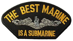 Patch-USN Best Marine Is a Submarine-for Cap