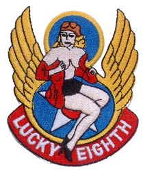 Patch-Lucky Eighth Nose Art