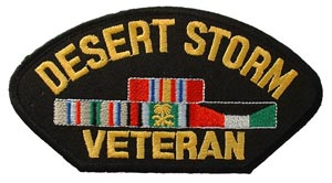 Desert Storm Veteran With Ribbons For Cap