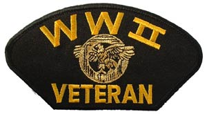WWII Veteran Patch For Cap