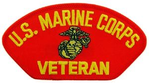 USMC Veteran Red Patch For Cap