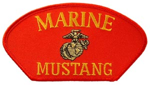 USMC Mustang Red Patch For Cap