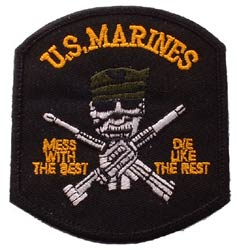 USMC Mess With The Best Black