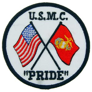USMC Pride Patch With Flags