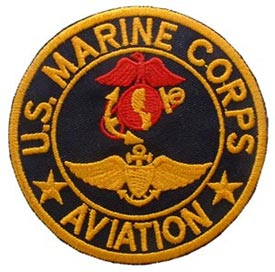 USMC Aviation Blk Red and Gold Patch