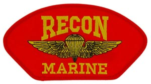 USMC Recon Red Patch For Cap