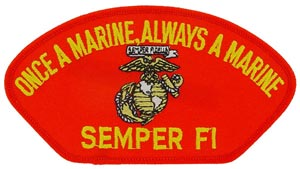 USMC Semper Fi Patch For Cap