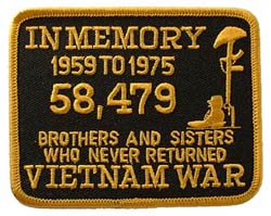Vietnam In Memory Yellow and Black